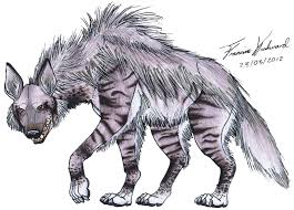 drawn hyena brown hyena pencil and in color drawn hyena brown hyena