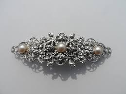 barrette hair clip wedding hair clip barrette pearl barrette hair clip