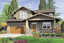 narrow lot craftsman house plans story bungalow home design cool