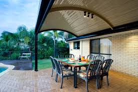 Unique Patio Creations The Stratco Outback Curved Roof Patio Is A Unique Sleek Curved