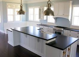 Black Countertop Kitchen by Silver Sink On The White Nice Black Countertop Neutral Kitchen