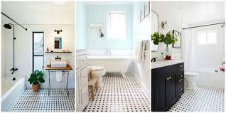 black and white bathroom tile designs black and white tiled bathroom floors are a