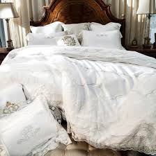 french egyptian cotton 800tc satin embroidery lace wedding bedding