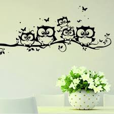 aliexpress com buy new arrival owls on tree wall stickers for aliexpress com buy new arrival owls on tree wall stickers for kids rooms decorative adesivo de parede pvc wall decal for kids room decor 55 25cm from