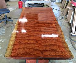 custom made live edge bubinga dining table tables pinterest