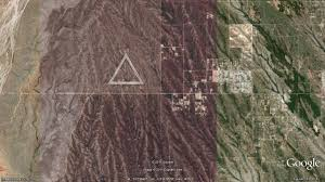 Google Map Arizona by Odd Desert Triangles The Daily Google Earth