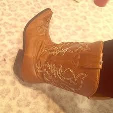 Comfortable Cowboy Boots L E I Brown Leather Cowboy Boots