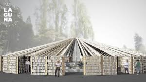 lacuna library public art space built with 50 000 books by bay