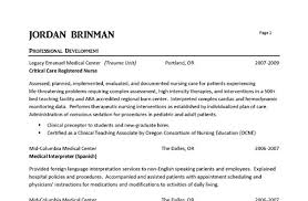 Nurse Resume Template Free Download Free Professional Resume Template Page 3