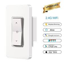 alexa light switch dimmer smart light switch with stepless dimming abedoe wifi buttons wall