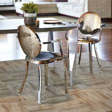 these luxurious stainless steel dining chairs are an optimum fit