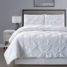 solid white comforter set com 3 piece solid black pinch pleat duvet cover set full