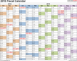 fiscal calendars 2015 as free printable word templates cal cmerge