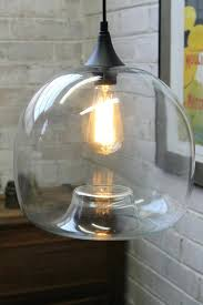 large clear glass pendant l globe lighting colored lights light