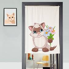 Curtain Cartoon by Online Shop Customsize Canvas 3d Door Curtains Panel Cartoon White