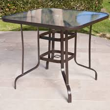 Large Patio Tables by Bar Furniture Round Glass Patio Table Shop Patio Tables At