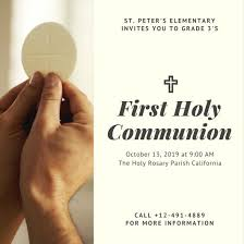 holy communion invitations communion invitation templates canva