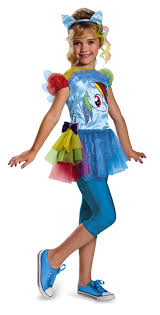 my pony costume hasbro s my pony rainbow dash classic costume medium