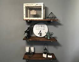 Barn Wood Floating Shelves by Pipe Shelves Etsy