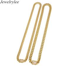necklace gold man images 18k gold neck chain designs for man stainless steel curb cuban jpg