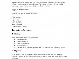 Busboy Resume Examples by Barback Resume Skills Busser Resume Samples Visualcv Resume