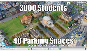 Simcity Meme - at least the universities are realistic simcity