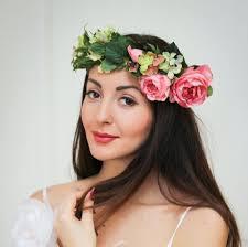 flower headband bridal floral crown flower headband bridal headband peony