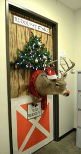 cardboard and deer cardboard christmas door decorating contest