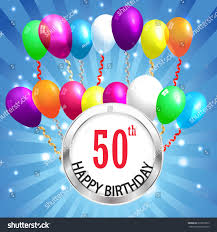 new years or birthday party invitation stock image 50th birthday background 50 years celebration stock vector