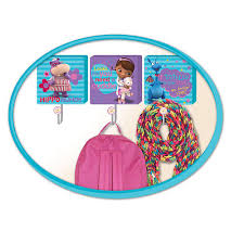 Disney Doc McStuffins 3 Pack Wall Hooks Idea Nuova Babies