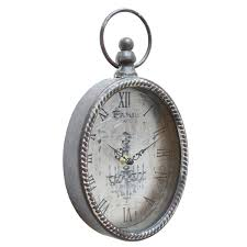 stratton home decor vintage clock silver s02195 at homelement com