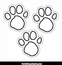 blues foot prints blues clues coloring pages free printable
