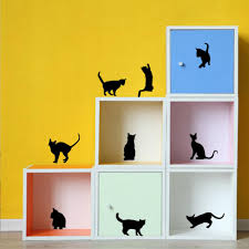 sale diy funny different cats wall stickers bedroom decoration
