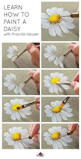 How To Paint A Vase Drawing Inspiration How To Paint A Daisy Http Www Clipzine Me