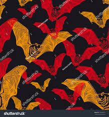 halloween abstract vector seamless halloween pattern bat modern stock vector