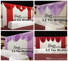 wedding backdrop prices 2018 factory price silk stage wedding backdrop curtain for event