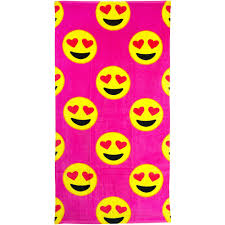 emoji beach towel heart eyes walmart com