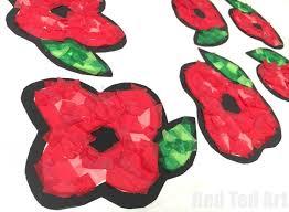 poppy suncatchers for preschoolers red ted art u0027s blog