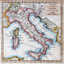 Itsly Map Colored Xviiith Century Italy Map By Royal French Geographer