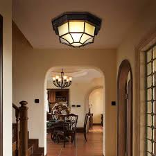 octagon ceiling light fixture retro waterproof ceiling lights e27 outdoor balcony courtyard l