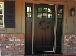 Replacing Exterior Doors Replacing Mahogany Door With Fiberglass Door With Two Sidelights