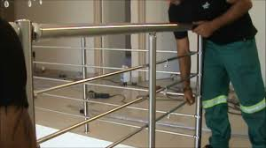 Banister Railing Installation Ezrails Diy Stainless Steel Balustrade Systems Installation
