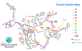 santa clarita map santa clarita transport map