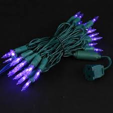 wide angle purple 50 bulb led lights sets 11