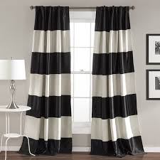 amazon com lush decor montego stripe window curtain panel set 84