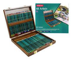 derwent artists colouring pencils wooden box multicolours set