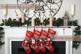 interior u0026 decor beautiful stocking holders for christmas