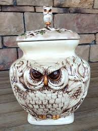 owl kitchen canisters owl canisters for the kitchen or ceramic owl kitchen set