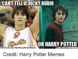 Harry Potter Meme - canttellif ricky rubio omas or harry potter harrypottermesmes