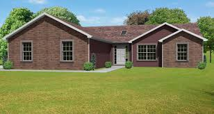new american house plans traditional brick ranch hwbdo63914 new american from